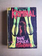 KRIMINAL n°28 1965 edizioni Corno  [G406]