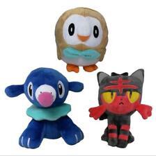 3Pcs Pokemon Go Rowlet Litten Popplio Pocket Monster Plush Toy Nintendo Doll