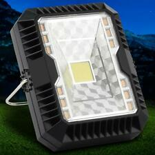 Solar+USB Rechargeable LED Light 10W 3 Modes Flood Beam Camping Work Lamp