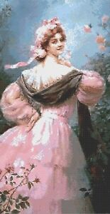 VICTORIAN LADY # 3 - COUNTED CROSS STITCH CHART