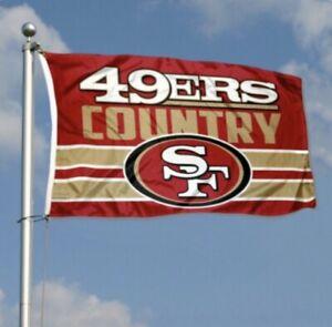San Francisco 49ers Flag Banner 3x5 Ft NFL Football 49er Country Super Bowl
