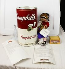 Vintage Campbell's Soup Kids The Pirate CK-48 Porcelain Doll In Can W COA 1995