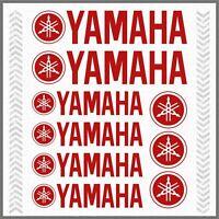 9pcs ADESIVI Rosso compatibile YAMAHA XT 660 1200 Z TMAX TDM XV YS WR Majesty