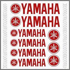 9x YAMAHA Red STICKERS TMAX Majesty Super Tenere XT TDM TW WR XV YS YBR 1200Z