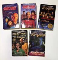 Lot of 5 STAR TREK Paperback Books Deep Space 9, Voyager, Next Generation