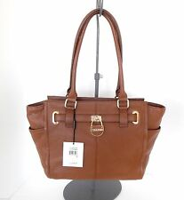 CALVIN KLEIN Pebbled Leather Satchel, Tote Bag + Dust Bag $268+tax  NWT