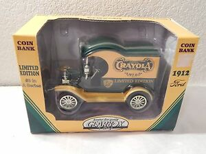 1998 Ltd Ed Crayola Gearbox 1912 Ford Delivery Truck #3 Die Cast Bank