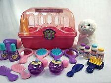 Keenway My Pet Grooming Salon Carry Case Accessories Kids Toys Play Fun