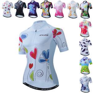 Women's Cycling Jersey Bike Short Sleeve Bicycle Clothing Shirt Tops Reflective