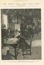 1886 ANTIQUE PRINT auteur Walter Besant monde s'est très bien alors forestier (270