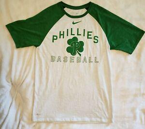 Philadelphia Phillies Baseball Green Shamrock Nike Dri-fit T Shirt Size M