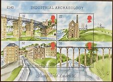 1989 Great Britain Miniature Sheet - Industrial Archaeology Mnh