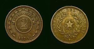 Paraguay 2 centesimos 1870 - copper