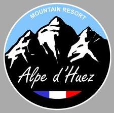 STICKER STATION DE SKI ALPE D'HUEZ NEIGE MONTAGNE 9cm RESORT AUTOCOLLANT AB044