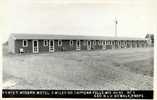 A View Of Kempe's Modern Motel, Hwy 53, Chippewa Falls, Wisconsin WI RPPC