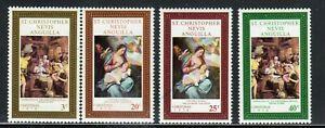 ST. KITTS & NEVIS - 1970 - Holy Family by Anthony van Dyck - XMAS 1970 - #234-37