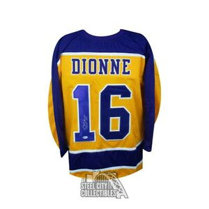 Marcel Dionne Autographed Los Angeles Kings Gold Custom Hockey Jersey - BAS COA