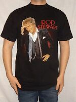 Rod Stewart 2004 Black Tour T-shirt Size Medium