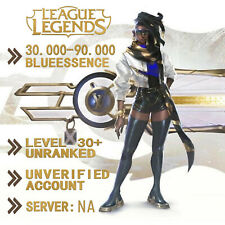 League of Legends Account LOL NA Smurf 40.000 - 80.000 BE IP Level 30+ Unranked