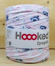 Hoooked `Zpagetti  Baroc Rosa mit blauen Blumen` Neu, Häkeln Stricken Hooked 572
