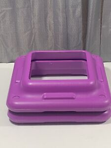 "The Step Original Aerobic Risers – Health Club Size - Purple 2 Pack 16"" X 16"""