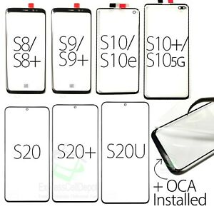 Samsung Galaxy S8/S9/S10/S20/Plus/Ultra Replacement Screen Front Outer Glass+OCA