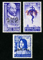 Trieste Stamps # 49-51 VF OG LH Set of 3 Scott Value $62.50