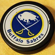 BUFFALO SABRES  OLD NHL OFFICIAL GENERAL TIRE SLUG made in CANADA HOCKEY PUCK