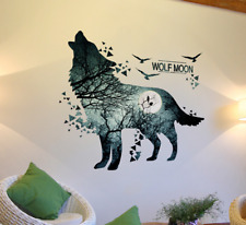 Wolf Forest Wall Sticker Decal Mural Vinyl Home Decor Living Room Bedroom HH5573