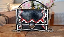 PRADA Damentasche aus Leder schwarz/rot/weiss NP2290 *NEUWERTIG*