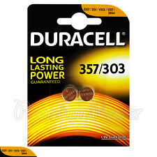 2 x Duracell Silver Oxide 357 303 1.5V batteries Watch D357 V303 V357 SR44