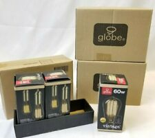 Globe Electric 31321 3 Packs of (3) Vintage Edison 60W Dimmable