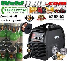 SALDATRICE A FILO CONTINUO MIG 200A TIG ELETTRODO GAS NO GAS 230V BOMBOLA 14 L