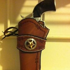 Western Leather Gun Holster  Single Actuon Cowboy Action LEFT HANDED
