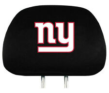 New York Giants Auto Head Rest Covers 2 Pack [NEW] NFL Car Seat Headrest CDG