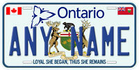 Ontario Canada Aluminum Any Name Car Auto Tag Novelty License Plate A1