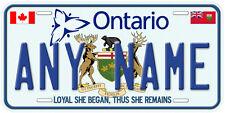 Ontario Canada Aluminum Any Name Car Auto Tag Novelty License Plate A1