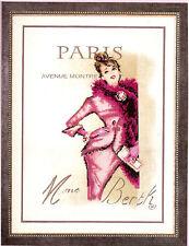 VERVACO  0014980  Paris  Broderie  Point de Croix  Compté  fond imprimé  Lin