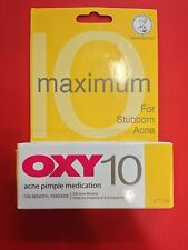 OXY 10 10% Maximum Benzoyl Peroxide Acne Pimple Medication Net 10g