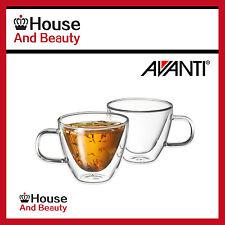 New Avanti Sienna Twin Wall Glass Set 150ml - Set of Two, Tea Coffee