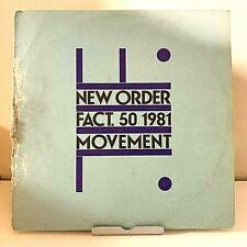 Movement New Order 1981 Vinyl Factory Records Australian Import 1st Press