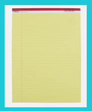 Mead Legal Pad 85 X 11 Yellow Bond Note Paper 50 Sheets Ruled 38 59610 New