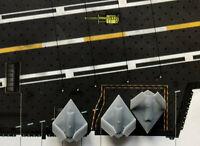 3 Stücke 1:700 USA Flugzeug X47b Faltgeflügel mit Abzeichen Wasserabziehbilder