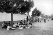 Photo. ca 1902. Boma, Congo Free State. Government Workers Waiting For Rations