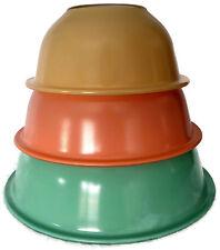 Set of 3 Vintage Pastel Pyrex Nesting Mixing Bowls 322 323 325