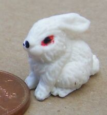 1:12 Scale White Polymer Clay Rabbit Tumdee Dolls House Miniature Accessory B