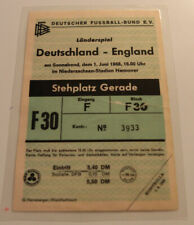 Ticket for collectors * Germany - England 1968 in Hannover