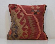 Vintage Kilim Pillow Cover Old Unique Cushion Cover Antique Pillows Wool Turkey
