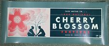 National Cherry Blossom Festival 1999 Playtime Design Washington DC Ad Poster