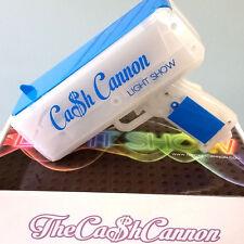 Authentic Cash Cannon Light Show - Money Gun - Blue